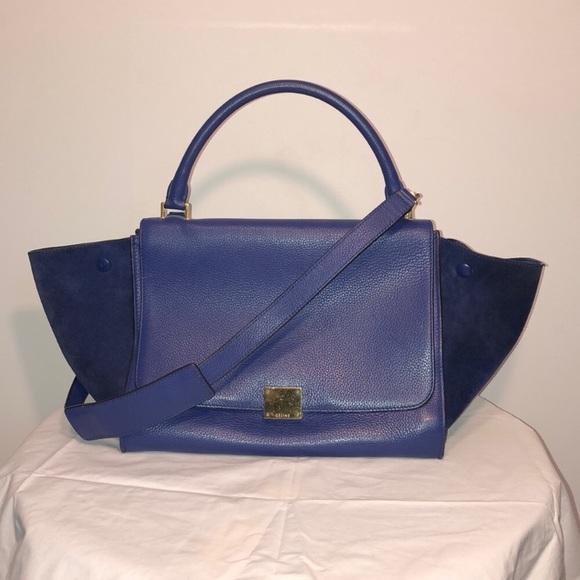 894e9a893633 Celine Handbags - Celine trapeze bag medium electric blue